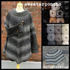 SweaterPoncho Str lille - stor - xstor