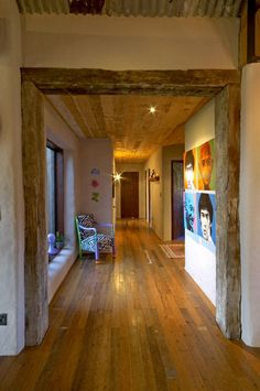 Page 13  Gallery | Straw Bale construction sustainable buildings strawbale wall systems New Zealand. ~love those beams