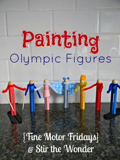 Painting Olympic Figures from Stir the Wonder
