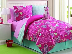 7 Pc Reversible Leapord/heart Comforter Set Bed in a Bag Twin Size Bedding By Plush C Collection, http://www.amazon.com/dp/B00KWHDT0E/ref=cm_sw_r_pi_awdm_8WiKub0NK7RFS