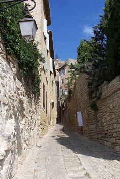 A narrow street in Gordes