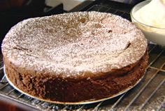 Chocolate Cracked Earth (Flourless Chocolate Cake) Recipe : Tyler Florence : Food Network - FoodNetwork.com