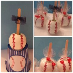 Baseball Candy Apples