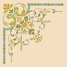 Ceiling Stencils | Victorian Ceiling Corner Stencil | Royal Design Studio