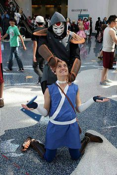"""Last airbender cosplay. Lol Sokka's like """"good luck with that."""""""