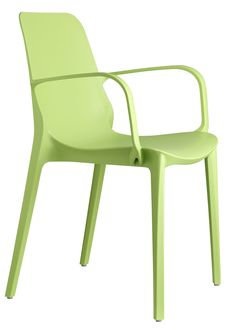 Ginevra stoel groen met armleuning - Scab Design