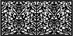 Acurio does MDF lattice work to use as fretwork Ginger Dove in Black