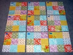article about creation of a sudoku quilt  plus I love these colors