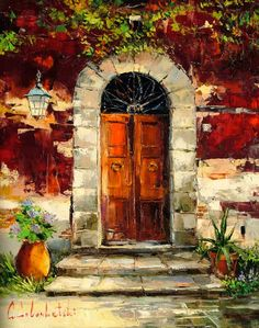 Tuscany Door II (2009) - 39 x 31 Original Oil on Canvas