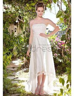 Bustier en tulle asymétrique cours Robe de mariée en satin
