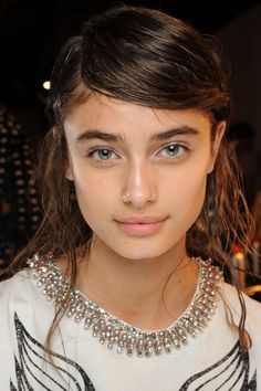 Spring Makeup Trend: Glowing Skin At Philip Lim, Skin Was Given A Glow Via A Mix Of Nars Pure Radiant Tinted Moisturizer And Copacabana Illuminator. Makeup Trends, Beauty Trends, Beauty Hacks, Makeup Ideas, Beauty Tips, Winter Makeup, Spring Makeup, Orange Lipstick, The Beauty Department