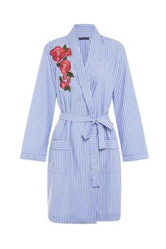 a0d12f7885 Rose embroidered robe with monogramming Cursive Fonts