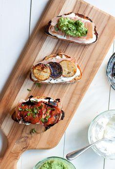 Grilled Crostini 3 Ways from @taralip