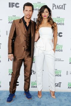 Matthew McConaughey and Camila Alves at the Spirit Awards