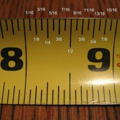 Wood Profit - Woodworking - how to read a measuring tape. Its sad I really can never remember what each mark is for! :) Discover How You Can Start A Woodworking Business From Home Easily in 7 Days With NO Capital Needed! Simple Life Hacks, Useful Life Hacks, Wood Projects, Sewing Projects, Furniture Projects, Furniture Plans, Do It Yourself Furniture, Tips & Tricks, Tape Measure