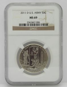 MS69 2011-D U.S. Army Commemorative Half Dollar 50 Cents coin  NGC Certified