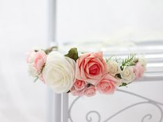 ♥ Blumenkranz Blüten ♥ Halbkranz ♥