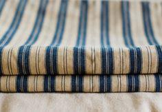 blue ticking pillowcases