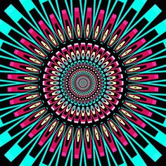 """""""The whole culture is telling you to hurry, while the art tells you to take your time. Always listen to the art. Psychedelic Art, Lsd Art, Symmetry Design, Trippy Pictures, Wow Video, Cool Optical Illusions, Trippy Gif, Chakra Art, Illusion Art"""