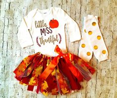 baby girl clothes Thanksgiving outfit by TrendiestTotsInTown