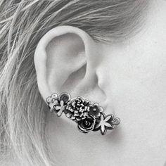 Sterling Silver Bouquet Climber Earrings