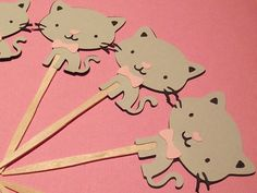 Kitten Cupcake Toppers set of 12 kitty by CreativePartyBanners