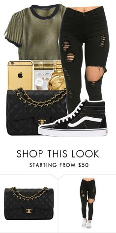 """""""Ego///Tyler the creator✨"""" by maiyaxbabyyy ❤ liked on Polyvore featuring Chanel and Vans"""