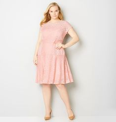 Multi Lace Fit and Flare Dress