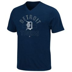 Detroit Tigers Game Day Weathered V-Neck T-Shirt by Majestic Athletic $25.99