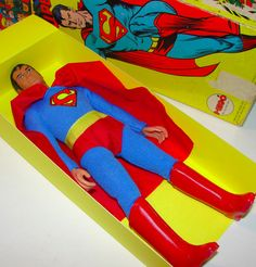 Early 70's Issue Mego Superman Action Figure Dead Mint in Box | eBay