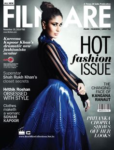 Kareena Kapoor Khan Sizzles on the Cover of Filmfare Magazine November 2014 Edition | BoxOfficeCollections