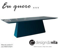 Mesa de Jantar F1. Design super contemporâneo com opções de acabamento em laca poliéster de várias cores ou em lâmina de madeira.  Tamanho sob medida!