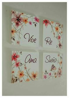 Small Canvas Art, Canvas Wall Art, Diy And Crafts, Arts And Crafts, Home Deco, Wall Decor, Frame, Handmade, Pictures