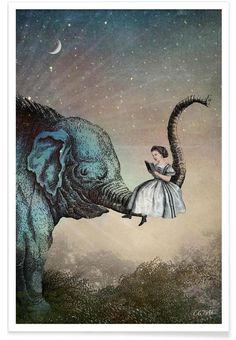 Good Night Story als Premium Poster von Catrin Welz-Stein | JUNIQE