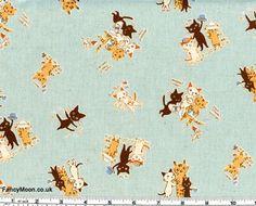Karel Capek Cats, Kokka Japanese Import Fabric