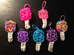 Rainbow Loom Cotton Candy/Lollipop Charm