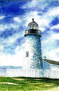 Great Lakes Light II Painting  - Great Lakes Light II Fine Art Print
