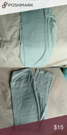 Soft blue Lula roe leggings Soft blue color never worn LuLaRoe Pants Leggings