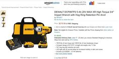 """Price Mistake? DEWALT DCF897P2 20V 3/4"""" Impact Wrench Kit $279.99 Amazon 3rd party seller CPO #LavaHot http://www.lavahotdeals.com/us/cheap/price-mistake-dewalt-dcf897p2-20v-3-4-impact/97757"""