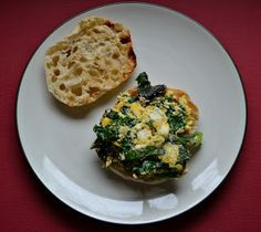Hezzi-Ds Books and Cooks: Egg, Cheese, and Mixed Greens Breakfast Muffin