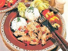 vcielkaisr-mojerecepty: Pikantné hydinové mäso Potato Salad, Cauliflower, Potatoes, Vegetables, Ethnic Recipes, Food, Red Peppers, Cauliflowers, Potato