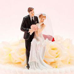 Noiva feliz e noivo do bolo de casamento Topper – BRL R$ 36,09