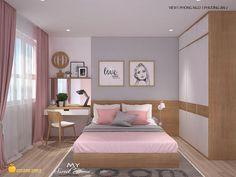Căn hộ Horizon được thiết kế cải nội thất căn hộ theo phong cách hiện đại, tối đa không gian sinh hoạt nhờ sử lụng linh hoạt đồ dùng nội thất thông minh. Màu trắng chủ đạo làm sáng cả không gian chung. Home Bedroom, Modern Bedroom, Small Rooms, Small Spaces, Bunk Rooms, Sofa Sale, Beauty Room, Minimalist Bedroom, Room Decor