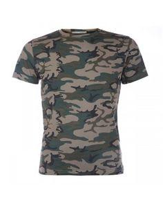 T-shirt - Army print Army Print, Button Down Shirt, Men Casual, Mens Tops, T Shirt, Fashion, Moda, Tee, Casual Male Fashion