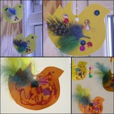 Bjørnemor...: Påskepynt => Påskekyllinger Duck Crafts, Diy And Crafts, Crafts For Kids, Arts And Crafts, Basket Crafts, Easter Season, In Kindergarten, Kids And Parenting, Diy For Kids