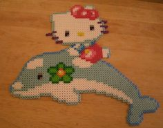 Hello Kitty Perler Art by hatchetsgochop, via Flickr