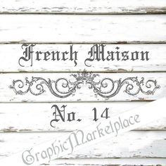 MAISON French Maison Instant Download by GraphicMarketplace, $1.00