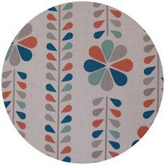 Dan Stiles for Birch Fabrics Organic, Mod Squad, Stem Stripe in coral