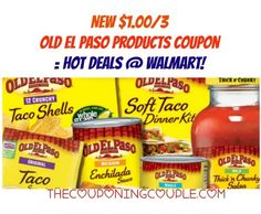 I am loving this coupon! Save $1.00/3 Old El Paso Products coupon! Check out the HOT deals you can get at Walmart!!  Click the link below to get all of the details ► http://www.thecouponingcouple.com/13-old-el-paso-products-coupon-hot-deals-walmart/  #Coupons #Couponing #CouponCommunity  Visit us at http://www.thecouponingcouple.com for more great posts!