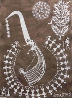 The Tarpa Player and the dancers By Jivya Soma Mashe